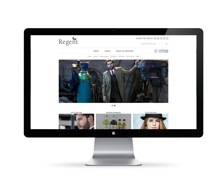 Responsive web design for Regent